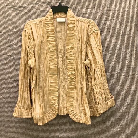 Shimmery gold light weight jacket